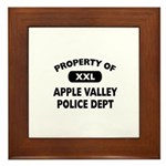 Property of Apple Valley Police Dept Framed Tile