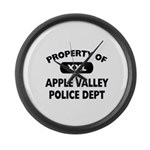 Property of Apple Valley Police Dept Large Wall Cl