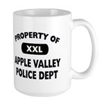 Property of Apple Valley Police Dept Large Mug