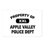 Property of Apple Valley Police Dept Postcards (Pa