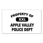 Property of Apple Valley Police Dept Sticker (Rect