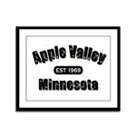 Apple Valley Established 1969 Framed Panel Print