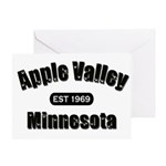 Apple Valley Established 1969 Greeting Card