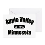 Apple Valley Established 1969 Greeting Cards (Pk o