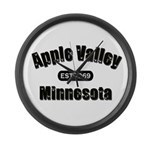 Apple Valley Established 1969 Large Wall Clock