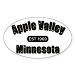 Apple Valley Established 1969 Oval Sticker (10 pk)