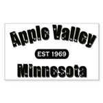 Apple Valley Established 1969 Rectangle Sticker