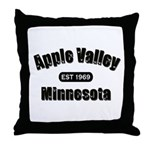Apple Valley Established 1969 Throw Pillow