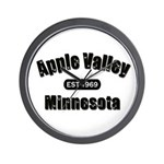 Apple Valley Established 1969 Wall Clock