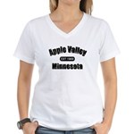 Apple Valley Established 1969 Women's V-Neck T-Shi