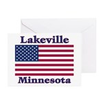 Lakeville Flag Greeting Cards (Pk of 20)