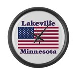 Lakeville Flag Large Wall Clock