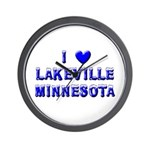 I Love Lakeville Wall Clock