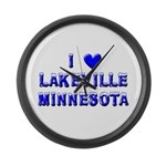 I Love Lakeville Large Wall Clock