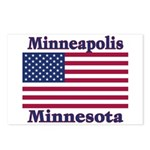 Minneapolis Flag Postcards (Package of 8)
