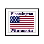Bloomington Flag Framed Panel Print