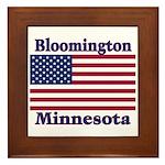 Bloomington Flag Framed Tile