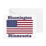 Bloomington Flag Greeting Cards (Pk of 10)