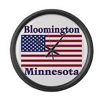Bloomington Flag Large Wall Clock