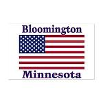 Bloomington Flag Mini Poster Print