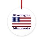 Bloomington Flag Ornament (Round)