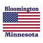 Bloomington Flag Small Poster