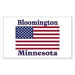 Bloomington Flag Rectangle Sticker 10 pk)