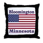 Bloomington Flag Throw Pillow