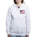 Bloomington Flag Women's Zip Hoodie
