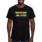 Brazilian Jiu Jitsu Men's Fitted T-Shirt (dark)