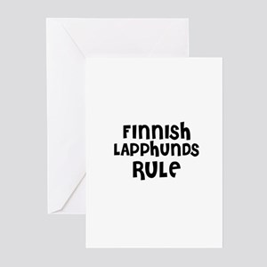 FINNISH LAPPHUNDS RULE Greeting Cards (Package of