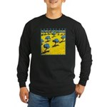 Olive Trees - Cyprus Long Sleeve Dark T-Shirt