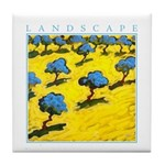 Olive Trees - Cyprus Tile Coaster