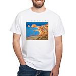 Aphrodite's Rocks - Cyprus White T-Shirt