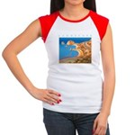 Aphrodite's Rocks - Cyprus Women's Cap Sleeve T-Sh