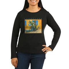 Green Zone - Cyprus Women's Long Sleeve Dark T-Shi
