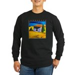 Akamas Hut - Cyprus Long Sleeve Dark T-Shirt