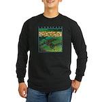 Akamas Village - Cyprus Long Sleeve Dark T-Shirt