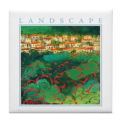 Akamas Village - Cyprus Tile Coaster
