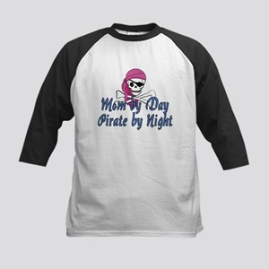 Mom Pirate Kids Baseball Jersey