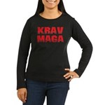 Krav Maga Women's Long Sleeve Dark T-Shirt