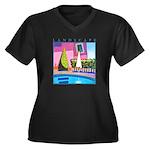 Hottest Day Women's Plus Size V-Neck Dark T-Shirt