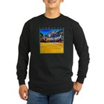 Beached Long Sleeve Dark T-Shirt