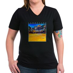 Beached Women's V-Neck Dark T-Shirt