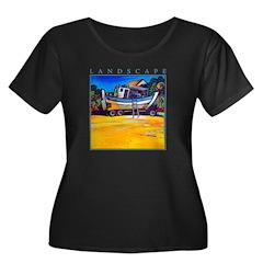 Beached Women's Plus Size Scoop Neck Dark T-Shirt