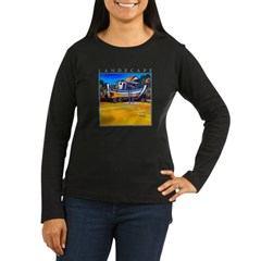 Beached Women's Long Sleeve Dark T-Shirt