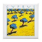 Cyprus, Olive Trees Tile Coaster