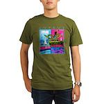 Cyprus, poolside Organic Men's T-Shirt (dark)