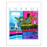 Cyprus, poolside Small Poster