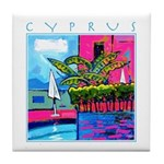 Cyprus, poolside Tile Coaster